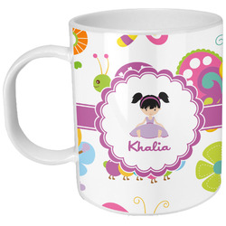 Butterflies Plastic Kids Mug (Personalized)