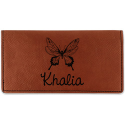 Butterflies Leatherette Checkbook Holder (Personalized)