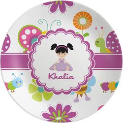 """Butterflies 8"""" Melamine Appetizer / Dessert Plate (Personalized)"""
