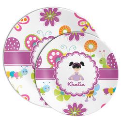 Butterflies Melamine Plate (Personalized)
