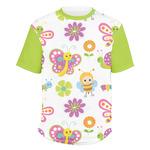 Butterflies Men's Crew T-Shirt (Personalized)