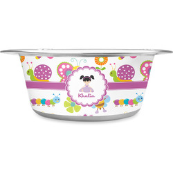 Butterflies Stainless Steel Pet Bowl (Personalized)