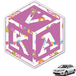 Butterflies Monogram Car Decal (Personalized)