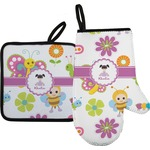 Butterflies Oven Mitt & Pot Holder (Personalized)