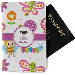 Butterflies Passport Holder - Fabric (Personalized)