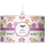 Butterflies Drum Pendant Lamp (Personalized)