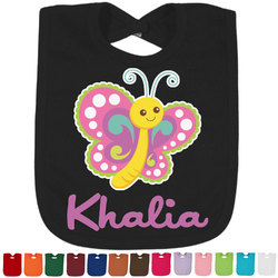 Butterflies Baby Bib - 14 Bib Colors (Personalized)