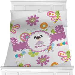 "Butterflies Fleece Blanket - Twin / Full - 80""x60"" - Double Sided (Personalized)"