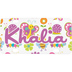 Butterflies Mini / Bicycle License Plate (Personalized)