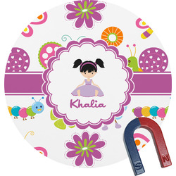 Butterflies Round Fridge Magnet (Personalized)