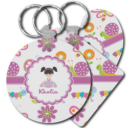 Butterflies Plastic Keychains (Personalized)