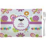 Butterflies Glass Rectangular Appetizer / Dessert Plate - Single or Set (Personalized)