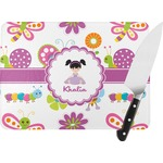 Butterflies Rectangular Glass Cutting Board (Personalized)