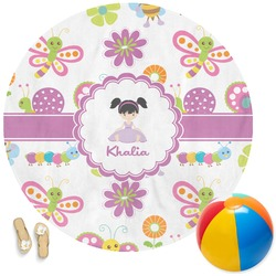 Butterflies Round Beach Towel (Personalized)