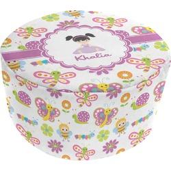 Butterflies Round Pouf Ottoman (Personalized)