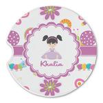 Butterflies Sandstone Car Coasters (Personalized)