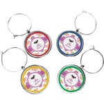 Butterflies Wine Charms (Set of 4) (Personalized)