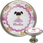 Butterflies Cabinet Knob (Silver) (Personalized)