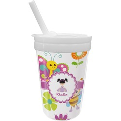 Butterflies Sippy Cup with Straw (Personalized)