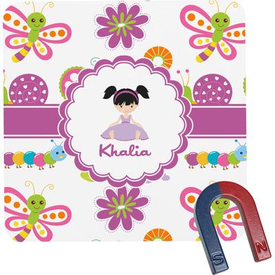 Butterflies Square Fridge Magnet (Personalized)