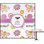 Butterflies Square Table Top (Personalized)