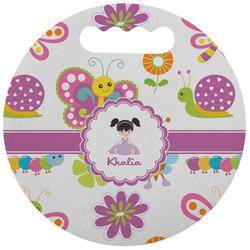 Butterflies Stadium Cushion (Round) (Personalized)