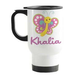 Butterflies Stainless Steel Travel Mug with Handle