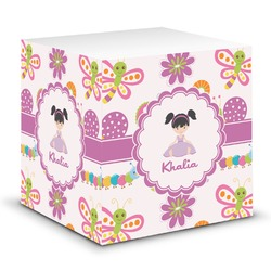 Butterflies Sticky Note Cube (Personalized)