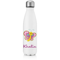 Butterflies Tapered Water Bottle - 17 oz. - Stainless Steel (Personalized)