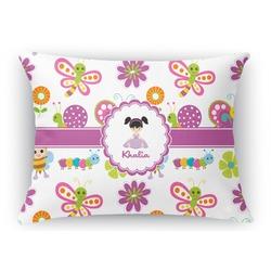 Butterflies Rectangular Throw Pillow Case (Personalized)