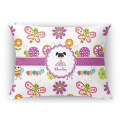 Butterflies Rectangular Throw Pillow Case (Personalized)