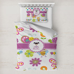 Butterflies Toddler Bedding w/ Name or Text