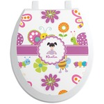 Butterflies Toilet Seat Decal (Personalized)