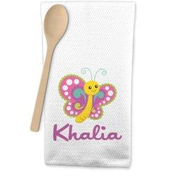 Butterflies Waffle Weave Kitchen Towel (Personalized)