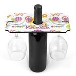 Butterflies Wine Bottle & Glass Holder (Personalized)