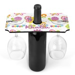 Butterflies Wine Bottle & Glass Holder (Personalized)