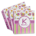 Butterflies & Stripes 3-Ring Binder (Personalized)