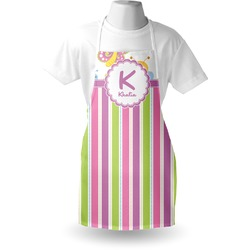 Butterflies & Stripes Apron (Personalized)