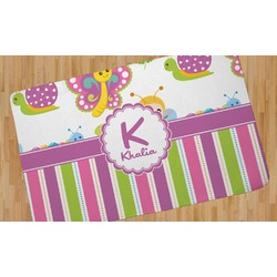 Butterflies & Stripes Area Rug (Personalized)