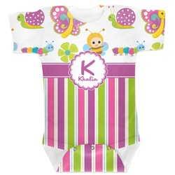 Butterflies & Stripes Baby Bodysuit (Personalized)