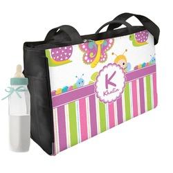 Butterflies & Stripes Diaper Bag (Personalized)