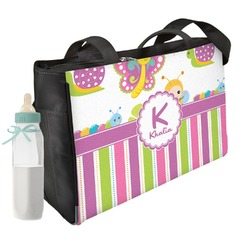 Butterflies & Stripes Diaper Bag (Personalized)
