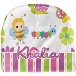 Butterflies & Stripes Baby Hat (Beanie) (Personalized)