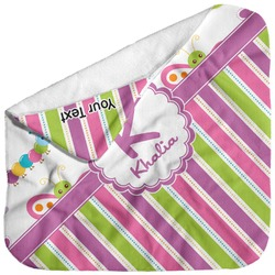 Butterflies & Stripes Baby Hooded Towel (Personalized)