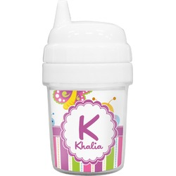 Butterflies & Stripes Baby Sippy Cup (Personalized)
