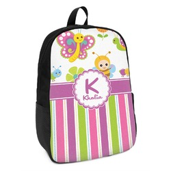 Butterflies & Stripes Kids Backpack (Personalized)