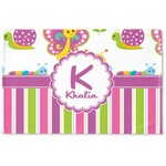 Butterflies & Stripes Woven Mat (Personalized)