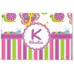 Butterflies & Stripes Woven Mat (Personalized)