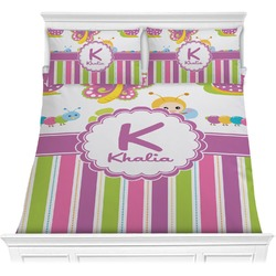 Butterflies & Stripes Comforters (Personalized)