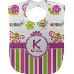 Butterflies & Stripes Baby Bib (Personalized)